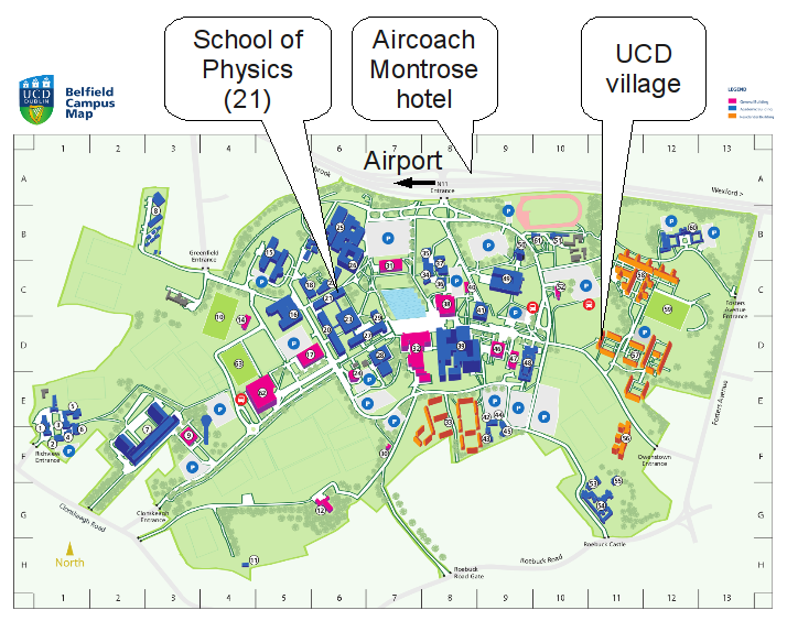 ucd dublin campus map Workshop On Astronomical Image Processing Accomodation ucd dublin campus map